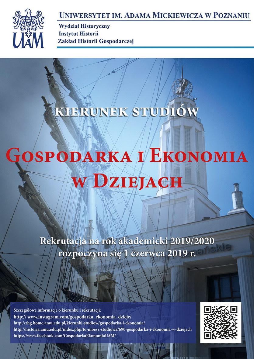 gospodarka i ekonomia w dziejach - rekrutacja